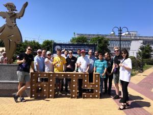 Участие делегации БГТУ на выставке в честь празднования Дня России